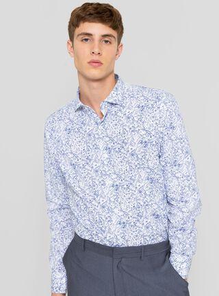 Camisa Vintage JJO,Azul Eléctrico,hi-res