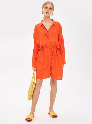 Vestido Drawstring Shirt Topshop,Único Color,hi-res