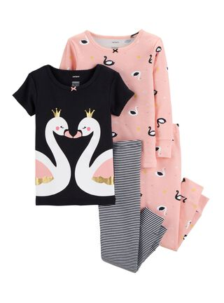 Pijama 4 Piezas Niña 2 A 4 Años Carter's,Diseño 1,hi-res