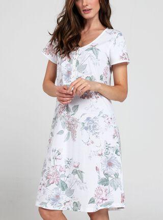 Camisa de Dormir Botonera BbZ,Blanco,hi-res