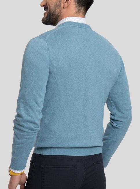 Sweater%20Algod%C3%B3n%20Cuello%20V%20Melange%20Arrow%2CAzul%20Petr%C3%B3leo%2Chi-res