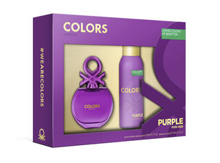 Set Perfume Colors Purple 80 ml + Deo 150 ml Benetton,,hi-res