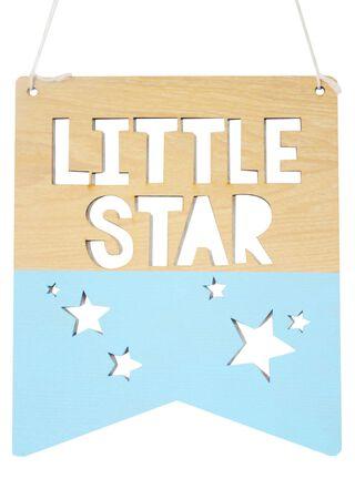 Banderín Madera Little Star 21 x 25 cm Iman Decor,,hi-res