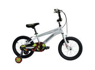 Bicicleta BMX Oxford Spine Aro 16 Hasta 120 cm,Plata,hi-res