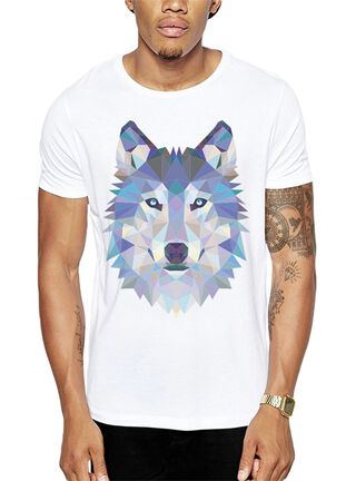 Polera Polygonal Wolf Get Out,Blanco,hi-res