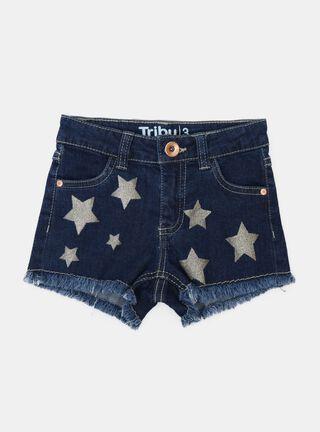Short Tribu Estrellas Niña,Azul Eléctrico,hi-res