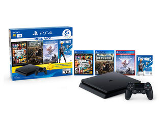 CONSOLA PS4 SLIM 1TB MEGAPACK 6 + 3 JUEGOS + PS PLUS 3 MESES + CUPÓN FORTNITE