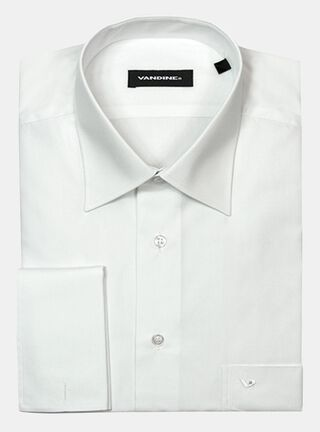 Camisa Regular Slim LM 33-34 P.Doble Cuello Romo Vandine,Blanco,hi-res