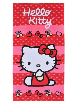 Toalla Playa Hello Kitty Fruits 70 x 140 cm Licencias Infantiles,,hi-res