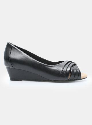 Zapato Rainforest Cuña Madera Vestir,Negro,hi-res