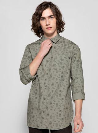 Camisa Print Oakley,Verde,hi-res