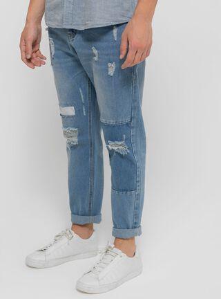 Jeans Rasgado con Focalizado Ellus,Azul,hi-res