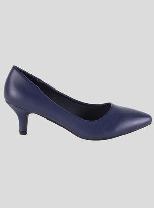 a4a03326d8e Zapato Casual Sormani Clásico Corte Cuadrado Bajo Pu Azul