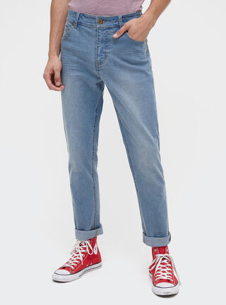 Jeans Slim Fit Liso Opposite,Azul Oscuro,hi-res