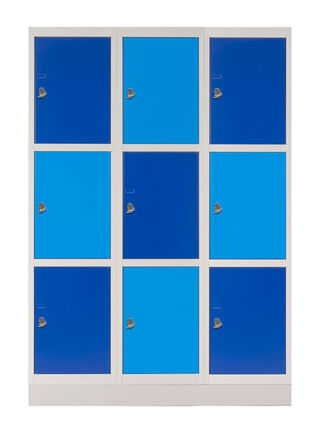 Locker Schoolbox Triple Portacandado Azul 9 Puertas 114x45x167 cm Maletek,,hi-res