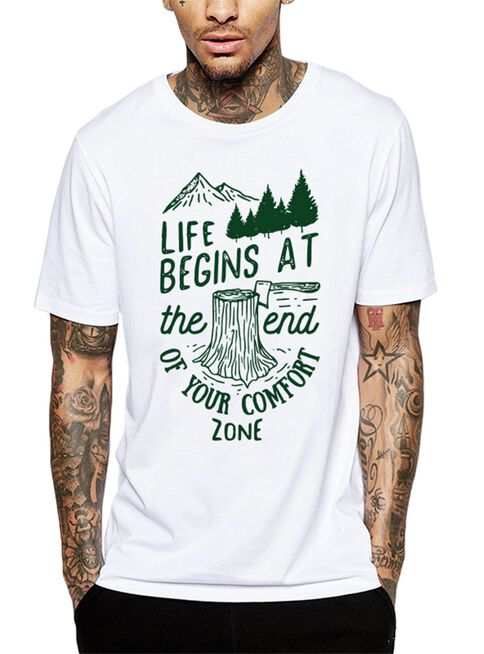 Polera%20Life%20Begins%20At%20The%20End%20Of%20Your%20Comfort%20Zone%20Get%20Out%C2%A0%2CBlanco%2Chi-res