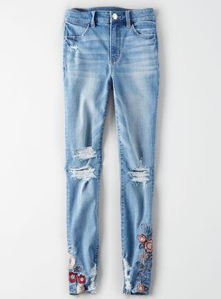 Jeans Hi Rise Jegging Ne(X)t Level American Eagle,Azul Petróleo,hi-res