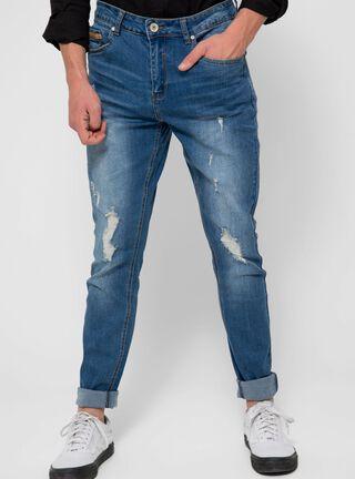 Jeans Skinny Rasgado JJO,Azul Eléctrico,hi-res