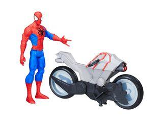 Figura Titan Hero con Aracmoto Spiderman,,hi-res