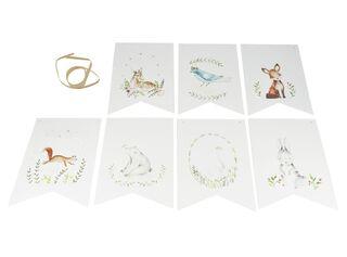 Banderín Ilustrado Animales Gris 20 x 14 cm La Gallina,,hi-res