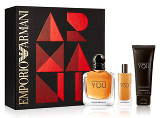Set Perfume Giorgio Armani Stronger With You Edt 100ml + 15ml + Gel De Ducha 75ml,,hi-res