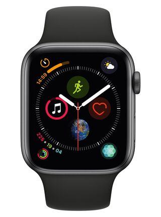 AppleWatch Series4 (GPS), caja aluminio en gris espacial 44mm y correa deportiva negra,,hi-res