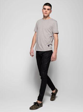 Jeans Skinny Biker Knited Denin Alexis Collection JJO,Negro,hi-res