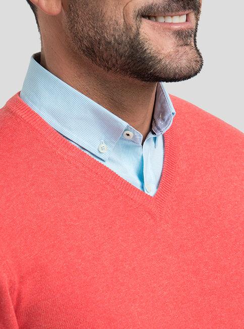 Sweater%20Algod%C3%B3n%20Cuello%20V%20Melange%20Arrow%2CRojo%2Chi-res