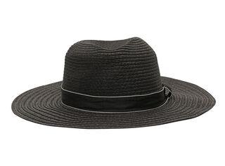 Sombrero Playa Alaniz Cinta Líneas Mujer,Negro,hi-res