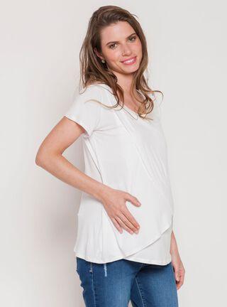 Polera Maternal Capas Manga Corta Nala Maternity,Blanco,hi-res