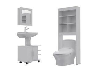 Combos Baño Big Bath Botiquín Espejo + Optimizador Lavamanos 2 Puertas + Optimizador Espacios TuHome,,hi-res