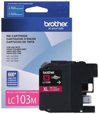 Cartucho de Tinta de alto rendimiento Brother LC103M Magenta,,hi-res