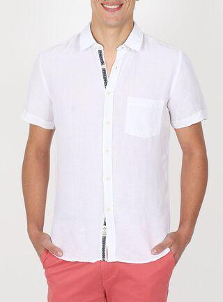 Camisa Manga Corta Casual Arrow,Blanco,hi-res