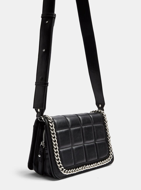 Cartera%20Crossbody%20Bag%20With%20Chain%20Detail%20In%20Black%20Topshop%2C%C3%9Anico%20Color%2Chi-res