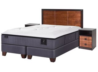 Box Spring Premium King Mini Carro + Textil + Set Vasa CIC,,hi-res
