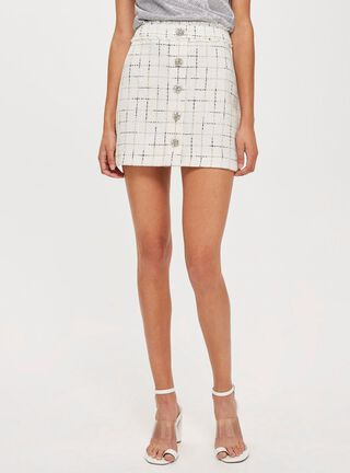 Falda Crystal Trim Boucle Topshop,Único Color,hi-res