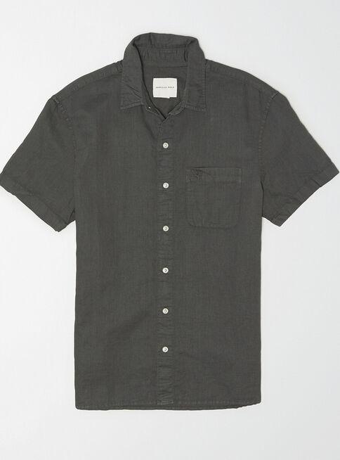 Camisa%20Manga%20Corta%20Lino%20B%C3%A1sica%20American%20Eagle%2CGris%20Perla%2Chi-res