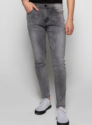 Jeans Skinny Focalizado Opposite,Ceniza,hi-res