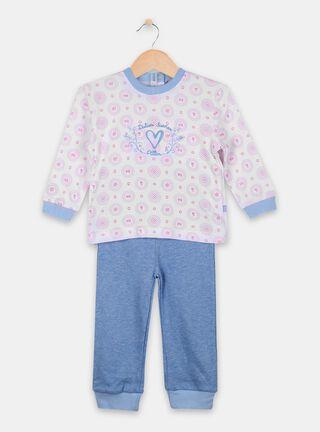 Pijama Pillin Estampado Básico Niña,Blanco,hi-res