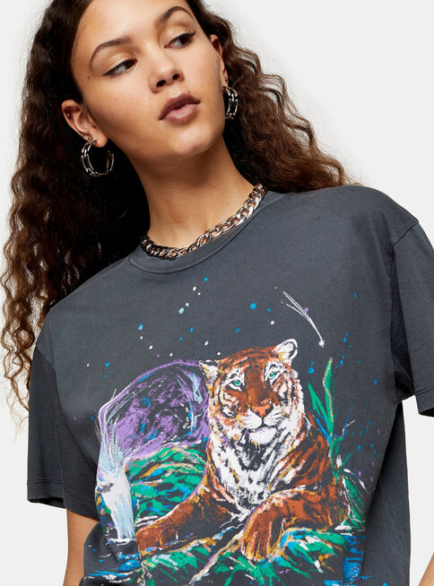 Polera%20Charcoal%20Grey%20Mystic%20Tiger%20Topshop%2C%C3%9Anico%20Color%2Chi-res