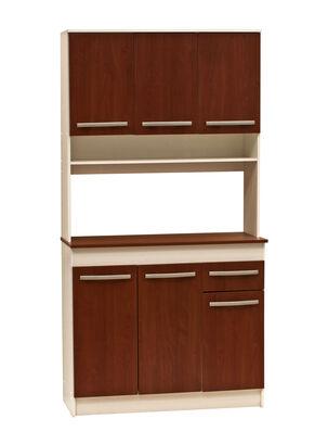 Kit Mueble de Cocina Cerezo 6 Puertas 90x38x180 cm Mobikit