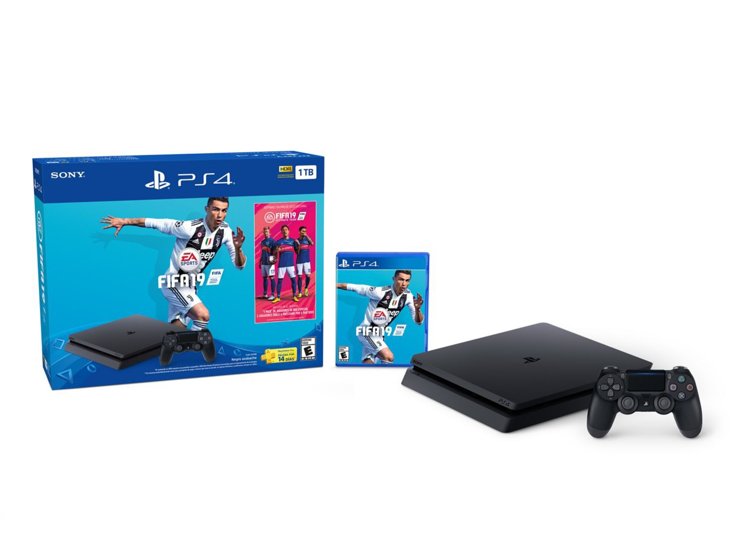 Consola Ps4 Slim 1tb Juego Fifa 19 Juegos Ps4 Y Vr Paris