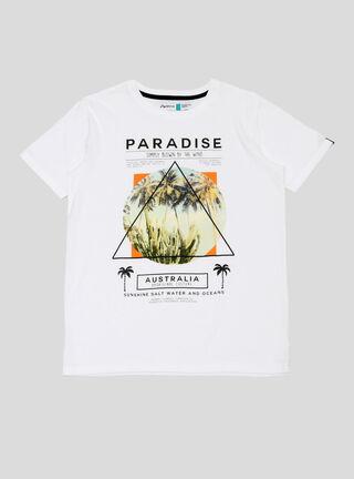 Polera Tropical Palmeras Aussie,Blanco,hi-res