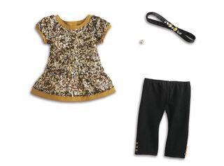 Accesorio Muñeca Vestido Dorado American Girl,,hi-res