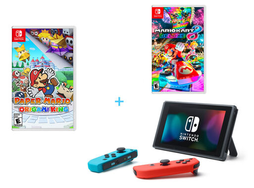 Consola%20Nintendo%20Switch%20Neon%20%2B%20Paper%20Mario%3A%20The%20Origami%20King%20%2B%20Mario%20Kart%208%20Deluxe%2C%2Chi-res