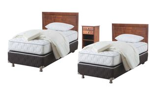 Duplex Box Spring Ergo-T 1 Plaza Rosen + Set Taylor + Textil,,hi-res