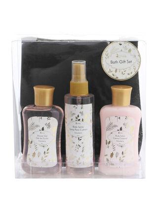 Set Tratamiento Cuerpo Nature Gold Frutilla y Cosmetiquero Set Spa,,hi-res