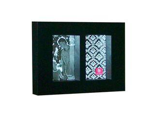 Marco de Fotos Plástico x 2 Attimo 10 x 15 cm,Negro,hi-res