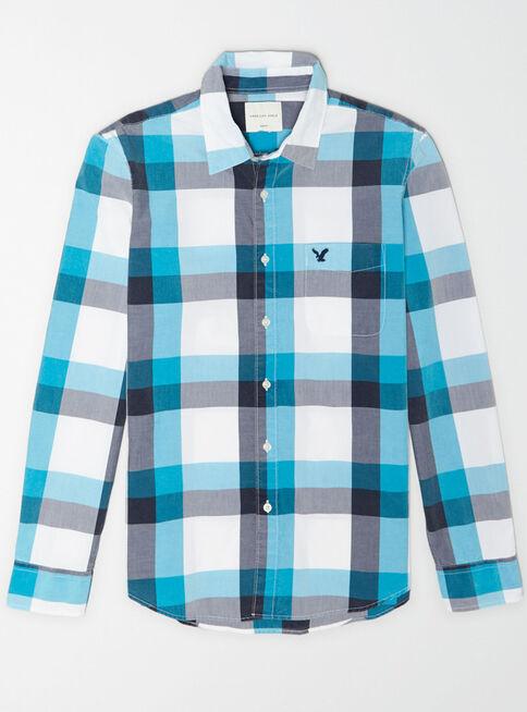 Camisa%20Popelina%20American%20Eagle%2CAzul%20Petr%C3%B3leo%2Chi-res