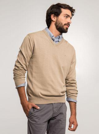 Sweater Cuello V Dockers,Beige Natural,hi-res